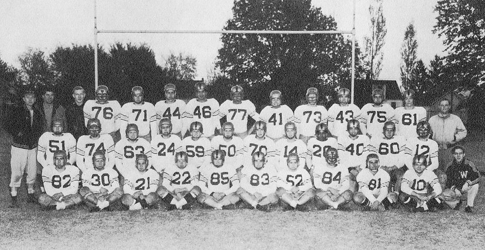 1952 Football<br /> Indiana Collegiate Conference<br /> Regular Season Champion