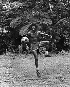 Bunny Wailer soccer match on his Farm in Hectors River Portland Jamaica. 1978
