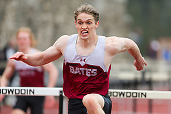 mens 110 Hurdles, Bates, Maine State Outdoor Track & Field Championships