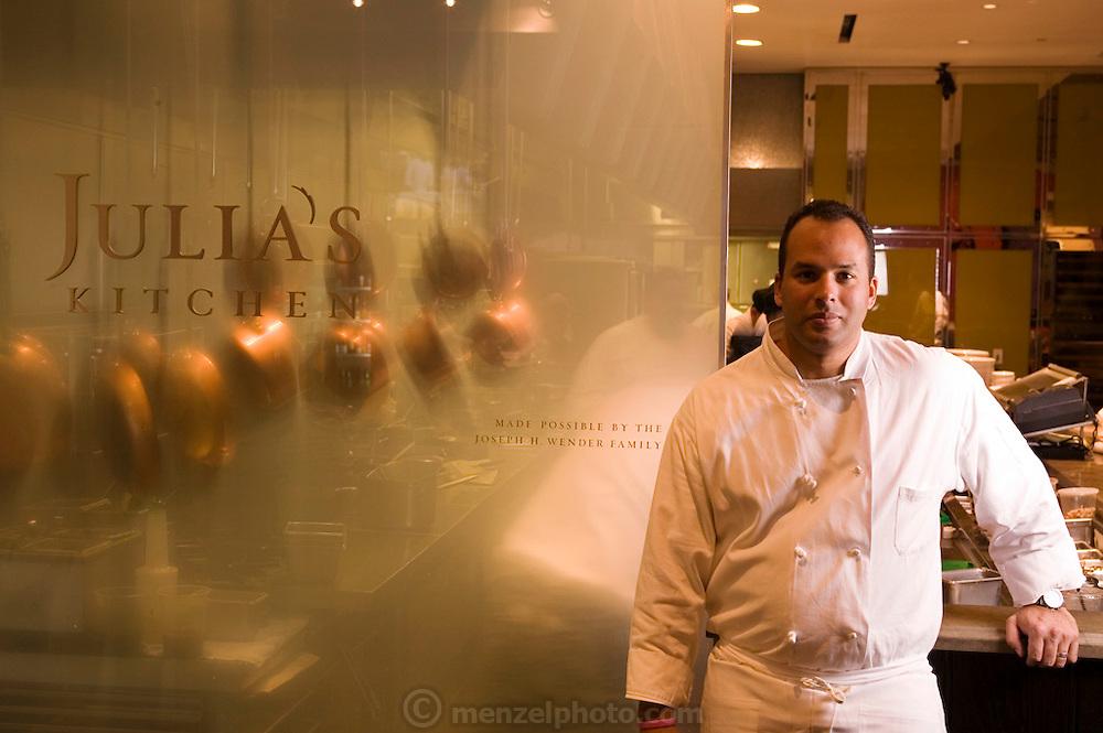 Executive Chef Victor Scargle at Julia's Kitchen Restaurant at Copia: The American Center for Food, Wine and the Arts, Napa, California. Napa Valley.