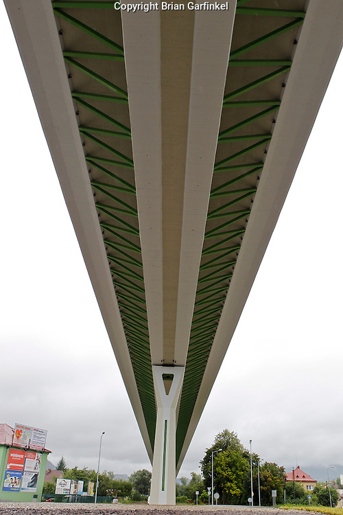 A view under the new highway in Povazka Bystrica, Slovakia on Sunday July 3rd 2011. (Photo by Brian Garfinkel)