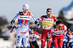 February 24, 2019 - Seefeld In Tirol, AUSTRIA - 190224 Oskar Svensson of Sweden competes in menÃ•s team sprint semi final during the FIS Nordic World Ski Championships on February 24, 2019 in Seefeld in Tirol..Photo: Vegard Wivestad GrÂ¿tt / BILDBYRN / kod VG / 170296 (Credit Image: © Vegard Wivestad Gr¯Tt/Bildbyran via ZUMA Press)