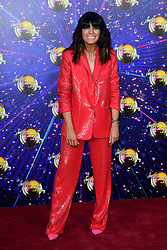 Claudia Winkleman arriving at the red carpet launch of Strictly Come Dancing 2019, held at BBC TV Centre in London, UK.