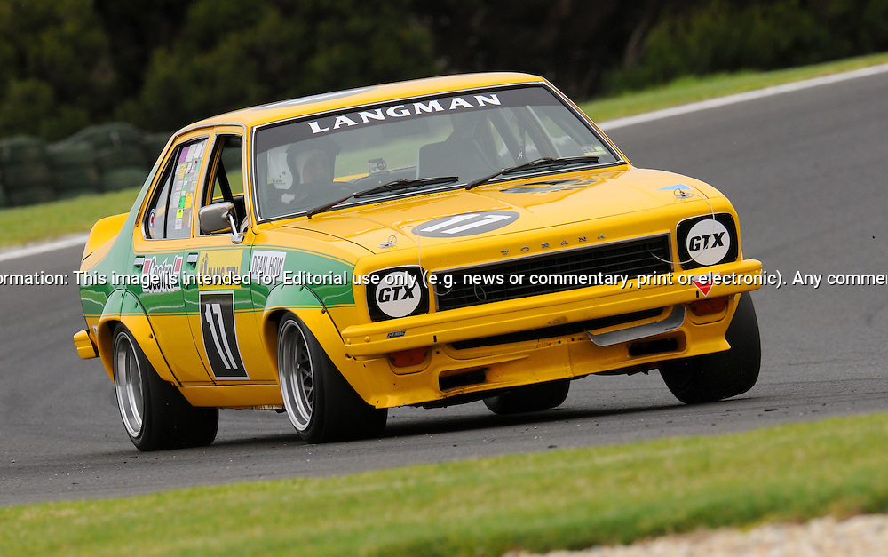 Dean How - Holden Torana L34 - Group G.Historic Motorsport Racing - Phillip Island Classic.18th March 2011.Phillip Island Racetrack, Phillip Island, Victoria.(C) Joel Strickland Photographics.Use information: This image is intended for Editorial use only (e.g. news or commentary, print or electronic). Any commercial or promotional use requires additional clearance.