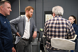 The Duke of Sussex during a visit to the OXSRAD Disability Sports and Leisure Centre, in Oxford.