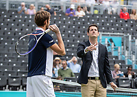 Tennis - 2019 Queen's Club Fever-Tree Championships - Day One, Monday<br /> <br /> Men's Singles, First Round: Fernando VERDASCO (ESP) vs Daniil MEDVEDEV (RUS) [4]<br /> <br /> The umpire tosses the coin to gets the weeks play under way on Centre Court.<br />  <br /> COLORSPORT/DANIEL BEARHAM
