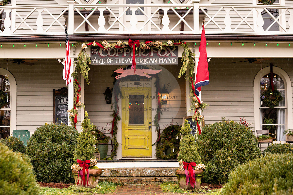 Old house converted into the Copper Fox gallery in Leipers Fork, Tennessee.