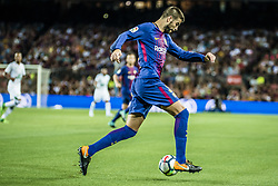 August 7, 2017 - Barcelona, Catalonia, Spain - FC Barcelona defender PIQUE in action during the Joan Gamper Trophy between FC Barcelona and Chapecoense at the Camp Nou stadium in Barcelona (Credit Image: © Matthias Oesterle via ZUMA Wire)