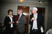 MARGUERITE LITTMAN, SIMON HOGG AND JONATHAN KING, Book launch for 'the Anti-social Behaviour of Horace Rumpole' by John Mortimer and 'A Voyage Round John Mortimer' by Valerie Grove. -DO NOT ARCHIVE-© Copyright Photograph by Dafydd Jones. 248 Clapham Rd. London SW9 0PZ. Tel 0207 820 0771. www.dafjones.com.