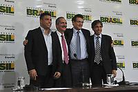20120116: SAO PAULO BRAZIL - Former Brazilian football player Ronaldo Nazario meet with Brazilian Sports Minister Aldo Rebelo and FIFA Secretary Jerome Valcke to prepare 2014 FIFA World Cup. <br /> PHOTO: CITYFILES