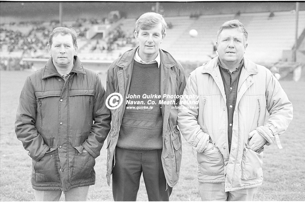 03-11-1991. Gaeil Colmcille v Walterstown - Meath SFC Final at Pairc Tailteann, Navan.<br /> Gaeil Colmcille selectors L to R: John Joe Murray, Brian Reilly and Gerry McManus.<br /> Photo: John Quirke / www.quirke.ie<br /> ©John Quirke Photography, 16 Proudstown Road, Navan. Co. Meath. (info@quirke.ie / 046-9028461 / 087-2579454).
