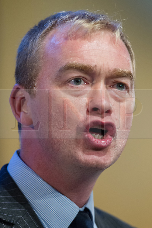 © Licensed to London News Pictures . 04/10/2014 . Glasgow , UK . President of the Liberal Democrats , TIM FARRON , speaks to the conference . The Liberal Democrat Party Conference 2014 at the Scottish Exhibition and Conference Centre in Glasgow . Photo credit : Joel Goodman/LNP