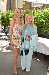 Left to right, HEATHER BIRD-TCHENGUIZ and LIZ BREWER at a ladies lunch at Toto's, Walton Street, London on 12th June 2014.