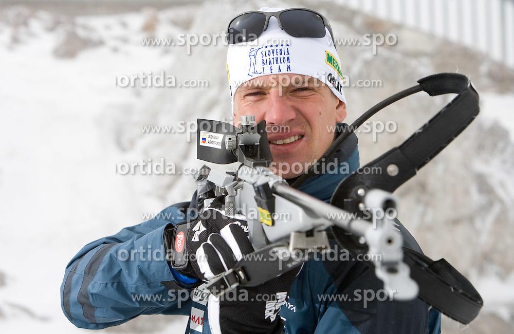 Janez Maric of Slovenian Men Biathlon Team at Dachstein glacier before new season 2008/2009, Austria, on October 30, 2008.  (Photo by Vid Ponikvar / Sportida)