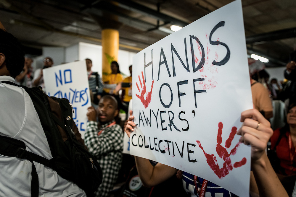 """Emergency India Solidarity Rally taking place on 21 July at the 2016 International AIDS Conference in Durban, South Africa, demanding that the South African government makes a statement against what protestors describe as """"The Modi Government's attacks on generic medicine and comrades from the lawyers collective"""", which they state """"echoes the apartheid system previously prevalent in South Africa."""