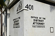 Closeup of Building 401 the Office of the District Attorney in Santa Ana