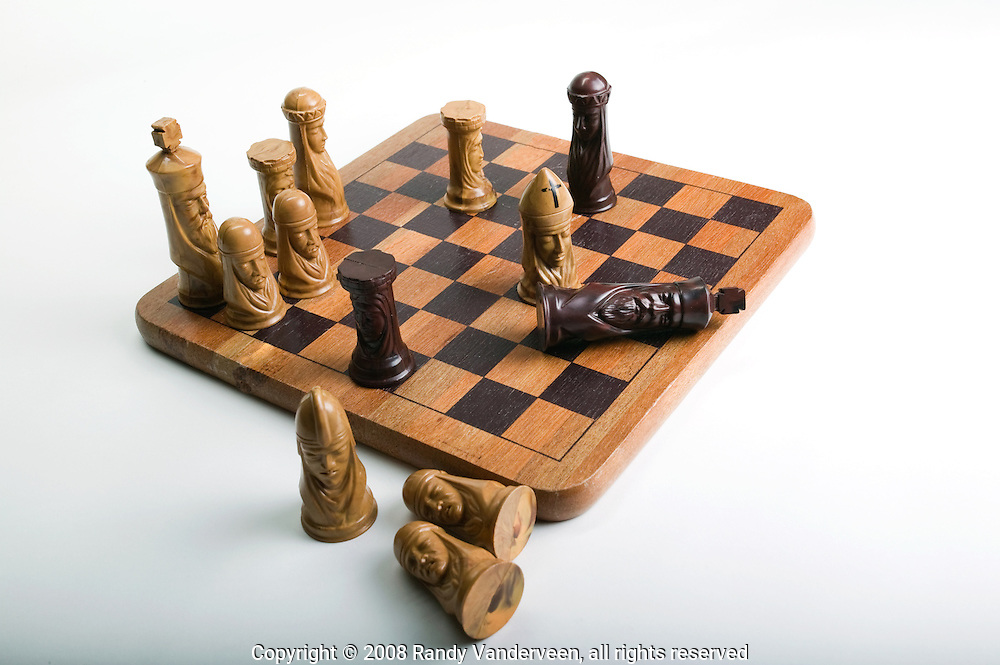 © 2008 Randy Vanderveen, all rights reserved.Grande Prairie, Alberta.Chess pieces are isolated against a white background.