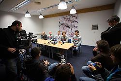 at press conference before first practice of Slovenian National Ice Hockey team before EIHC tournament in Ljubljana, on November 5, 2012 in Ledena dvorana Bled, Bled, Slovenia. (Photo by Matic Klansek Velej / Sportida.com)