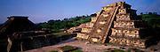 MEXICO, VERACRUZ CULTURE EL TAJIN; Pyramid of the Niches