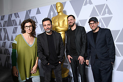 """Eva Kemme, Talal Derki,Tobias N. Siebert and Ansgar Frerich of the Oscar® nominated documentary feature """"Of Fathers and Sons"""" prior to the Academy of Motion Picture Arts and Sciences' """"Oscar Week: Documentaries"""" event on Tuesday, February 19, 2019 at the Samuel Goldwyn Theater in Beverly Hills. The Oscars® will be presented on Sunday, February 24, 2019, at the Dolby Theatre® in Hollywood, CA and televised live by the ABC Television Network."""