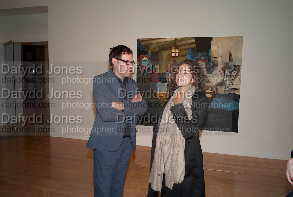 DEXTER DALWOOD; VICTORIA GELFEND, Private view for the Turner prize exhibition. Tate Britain. London. 4 October 2010. -DO NOT ARCHIVE-© Copyright Photograph by Dafydd Jones. 248 Clapham Rd. London SW9 0PZ. Tel 0207 820 0771. www.dafjones.com.