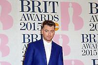 Sam Smith, The BRIT Awards, The O2, London UK, 25 February 2015, Photo by Richard Goldschmidt