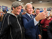 21 JANUARY 2020 - AMES, IOWA: Former US Vice President JOE BIDEN takes a selfie with a man on the rope line during a campaign event at the Gateway Hotel and Conference Center in Ames, Tuesday. About 150 people came to listen to former Vice President Biden talk about his reasons for running for President. Iowa hosts the first event of the presidential election cycle. The Iowa Caucuses are Feb. 3, 2020.       PHOTO BY JACK KURTZ