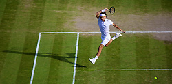 04.07.2014, All England Lawn Tennis Club, London, ENG, ATP Tour, Wimbledon, im Bild xxxx during the Gentlemen's Singles Semi-Final match on day eleven // during the Wimbledon Championships at the All England Lawn Tennis Club in London, Great Britain on 2014/07/04. EXPA Pictures © 2014, PhotoCredit: EXPA/ Propagandaphoto/ David Rawcliffe<br /> <br /> *****ATTENTION - OUT of ENG, GBR*****