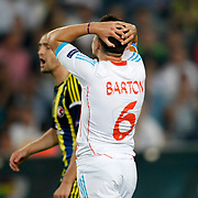 Marseille's Joey Barton during their UEFA Europa League Group Stage Group C soccer match Fenerbahce between Marseille at Sukru Saracaoglu stadium in Istanbul Turkey on Thursday 20 September 2012. Photo by TURKPIX