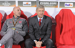 Arsenal's coach Arsene Wenger during football match between NK Crvena Zvezda Beograd and Arsenal FC in Group H of UEFA Europa League 2017/18, on October 19, 2017 in Stadion Rajko Mitic, Belgrade, Serbia. Photo by Nebojsa Parausic / Sportida