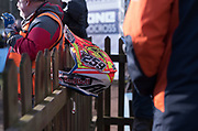 Glen Coldenhoff found a good spot for his helmet while he received 2nd place honours in MX1.
