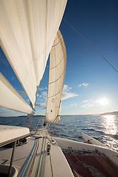 United States, Washington, Seattle. Seattle, Sailing in Elliot Bay