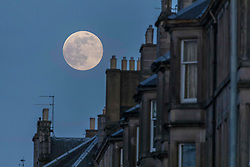 Super Moon, Edinburgh, 07 April 2020 <br /> <br /> Pictured: In a moment of calm during the COVID19 crisis, the Super Moon rises above Edinburgh. <br /> <br /> (c) Richard Dyson | EdinburghElitemedia.co.uk 2020