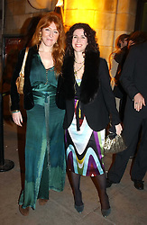 Left to right, CHARLOTTE TILBURY and MOLLIE DENT-BROCKLEHURST at the Art Plus Dance Party 2005 - an evening of live dance, film and partying held at the Whitechapel Art Gallery, 80-82 Whitechapel High Street, London on 21st March 2005.<br /><br />NON EXCLUSIVE - WORLD RIGHTS