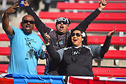 Fijian fans in the stand during the USA Sevens Rugby Series at Sam Boyd Stadium, Las Vegas, USA on 2 March 2018. Picture by Ian  Muir.