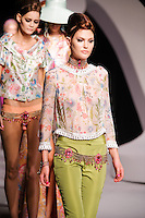 Catherine McNeil walks the runway  at the Christian Dior Cruise Collection 2008 Fashion Show