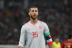 June 15, 2018 - Sochi, Russia - June 15, 2018, Russia, Sochi, FIFA World Cup, First round, Group B, Portugal vs Spain at Fisch Stadium. Player of the national team Sergio Ramos. (Credit Image: © Russian Look via ZUMA Wire)