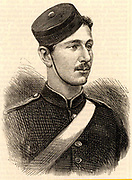The Prince Imperial. Prince Louis Napoleon (1856-1879), son of Napoleon III of France and Empress Eugenie, as a cadet at the Royal Military Academy, Woolwich. Served in the British army and was killed in the Zulu War.  From 'The Illustrated London News' (London, 6 March 1875).