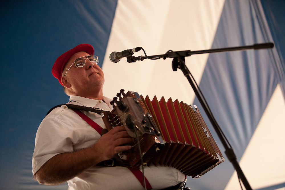 Accordionist Reggie Matte of the Jambalaya Cajun Band at the Lowell Folk Festival, 25 July 2009.