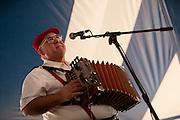 Accordionist Reggie Matte of the Jambalaya Cajun Band at the Lowell Folk Festival, 25 July 2009.