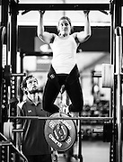 Luger Arianne Jones trains at the Canadian Sport Institute high performance training centre in Calgary, Alberta on November 21, 2014.
