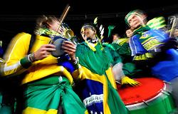 15.06.2010, Ellis Park, Johannesburg, RSA, FIFA WM 2010, Brasilien vs Nordkorea im Bild Brasilien Fan Feature, EXPA Pictures © 2010, PhotoCredit: EXPA/ InsideFoto/ G. Perottino, ATTENTION! FOR AUSTRIA AND SLOVENIA ONLY!!! / SPORTIDA PHOTO AGENCY