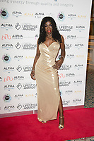 Heather Small on the red carpet for the Lifestyle Awards 2021, at the Landmark Hotel Marylebone, London.