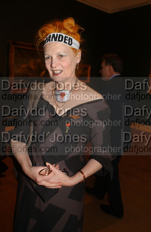Vivienne Westwood. Jacob van Ruisdael: Masters of Landscape. 21 February 2006. ONE TIME USE ONLY - DO NOT ARCHIVE  © Copyright Photograph by Dafydd Jones 66 Stockwell Park Rd. London SW9 0DA Tel 020 7733 0108 www.dafjones.com