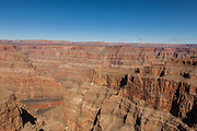 View of the Grand Canyon West from the Hualapai Nation reservation, AZ.