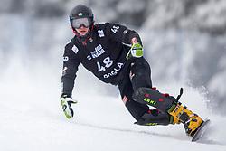 Elias Huber (GER) during Final Run at Parallel Giant Slalom at FIS Snowboard World Cup Rogla 2019, on January 19, 2019 at Course Jasa, Rogla, Slovenia. Photo byJurij Vodusek / Sportida