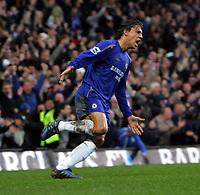 Hernan Crespo  Celebrates scoring 3rd goal<br />Chelsea 2005/06<br />Chelsea V Fulham Premier League Stamford Bridge London<br />London England 26/12/05<br />Photo Robin Parker Fotosports International