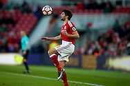 Middlesbrough defender George Friend (3)  brings the ball under control during the The FA Cup match between Middlesbrough and Sheffield Wednesday at the Riverside Stadium, Middlesbrough, England on 8 January 2017. Photo by Simon Davies.