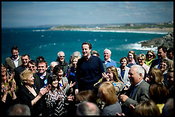 Leader of the Conservative Party David Cameron during a speech at Lewinnick Lodge in Newquay, Sunday May 2, 2010. Photo By Andrew Parsons / i-Images.