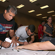 Christopher Diaz prior to weigh ins for the Top Rank boxing event at Osceola Heritage Park in Kissimmee, Florida on September 21, 2016.